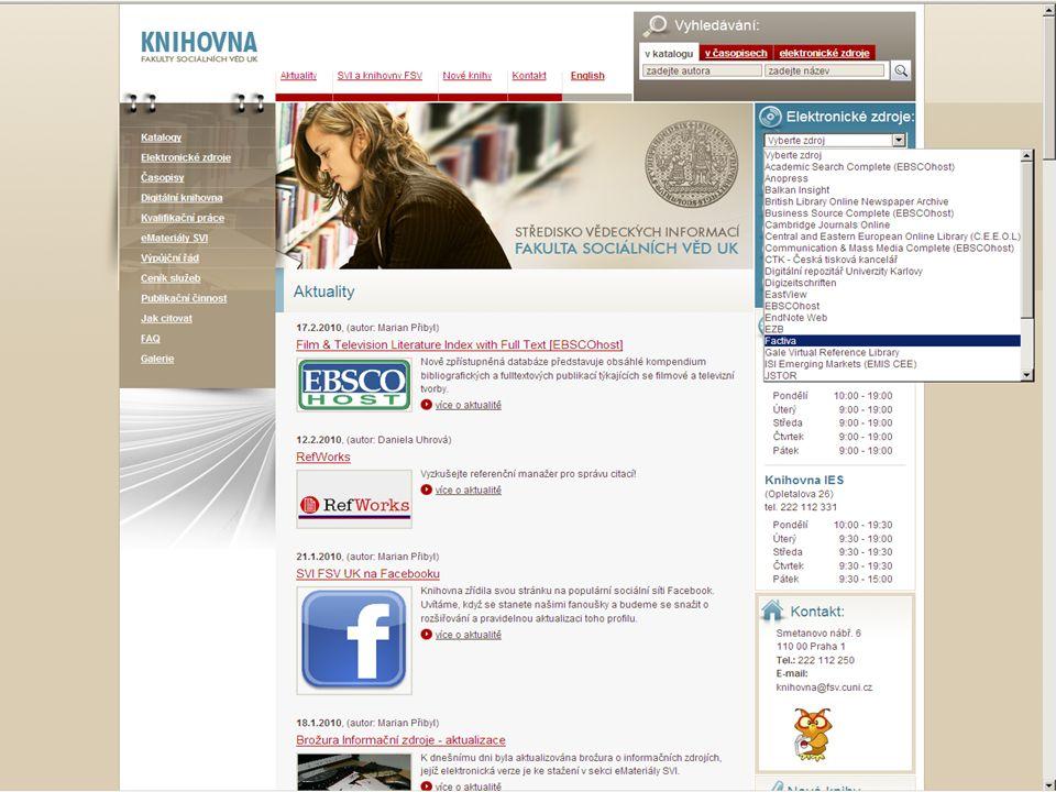 37SVI FSV UK 2010 Vyhledávání v databázích – příklady