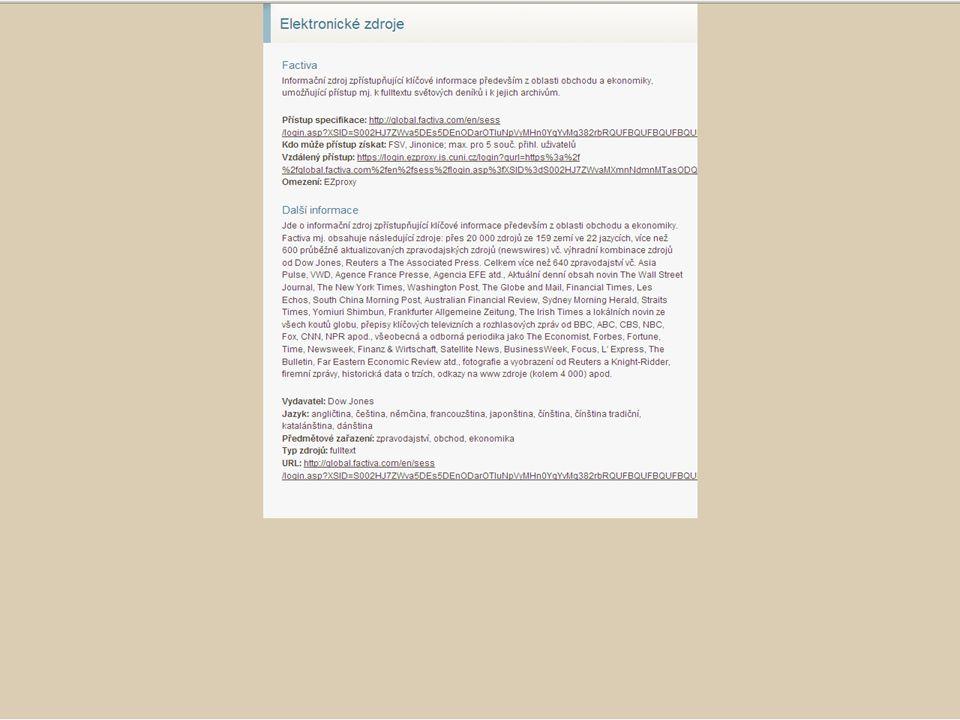 38SVI FSV UK 2010 Vyhledávání v databázích – příklady
