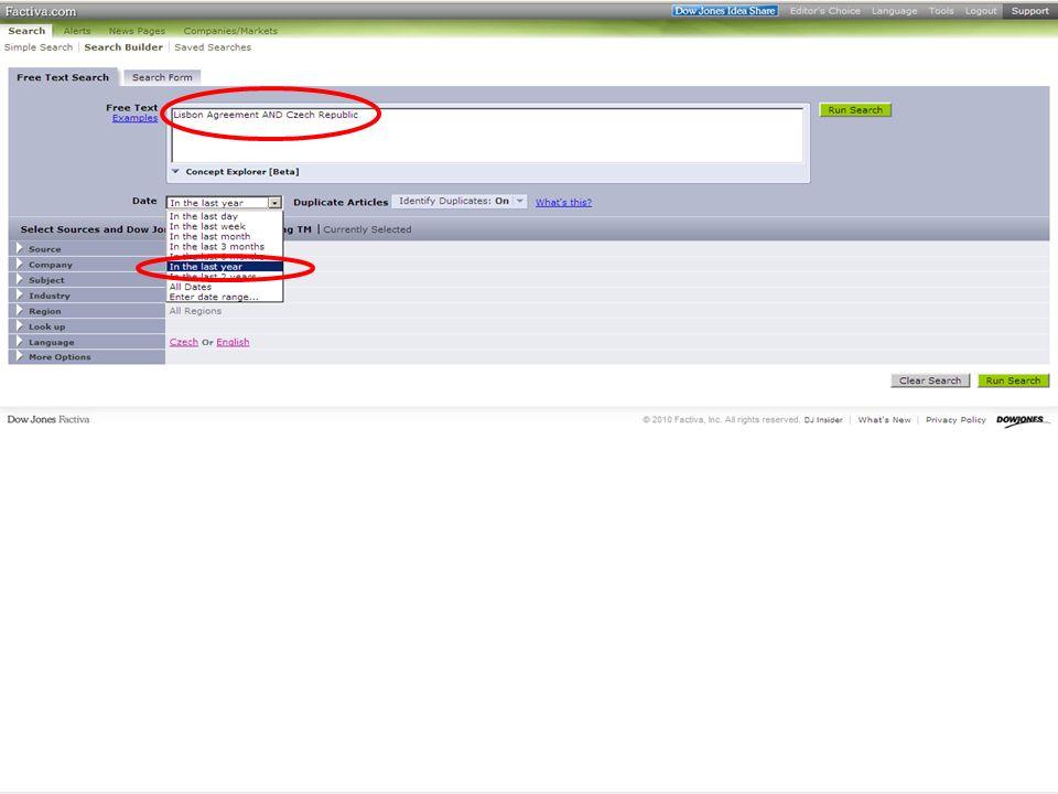 39SVI FSV UK 2010 Vyhledávání v databázích – příklady