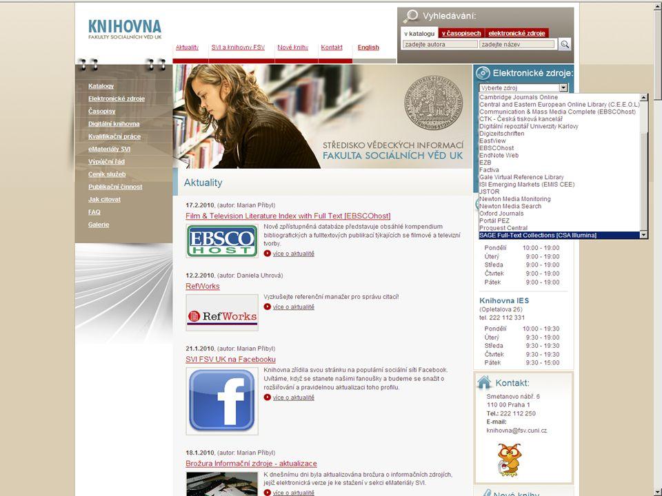 43SVI FSV UK 2010 Vyhledávání v databázích – příklady