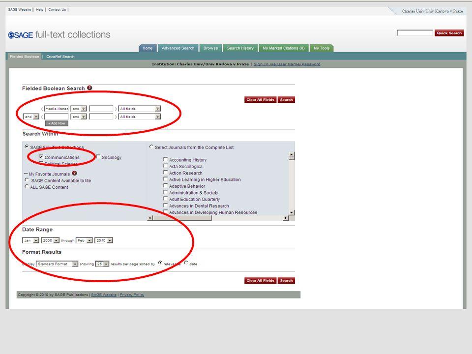 46SVI FSV UK 2010 Vyhledávání v databázích – příklady