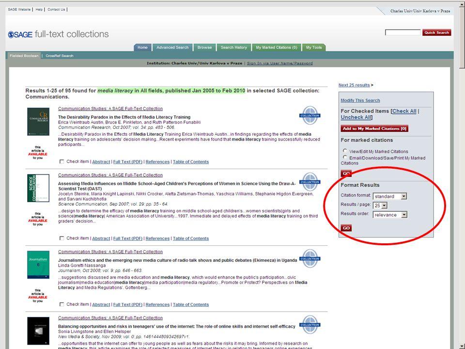 47SVI FSV UK 2010 Vyhledávání v databázích – příklady