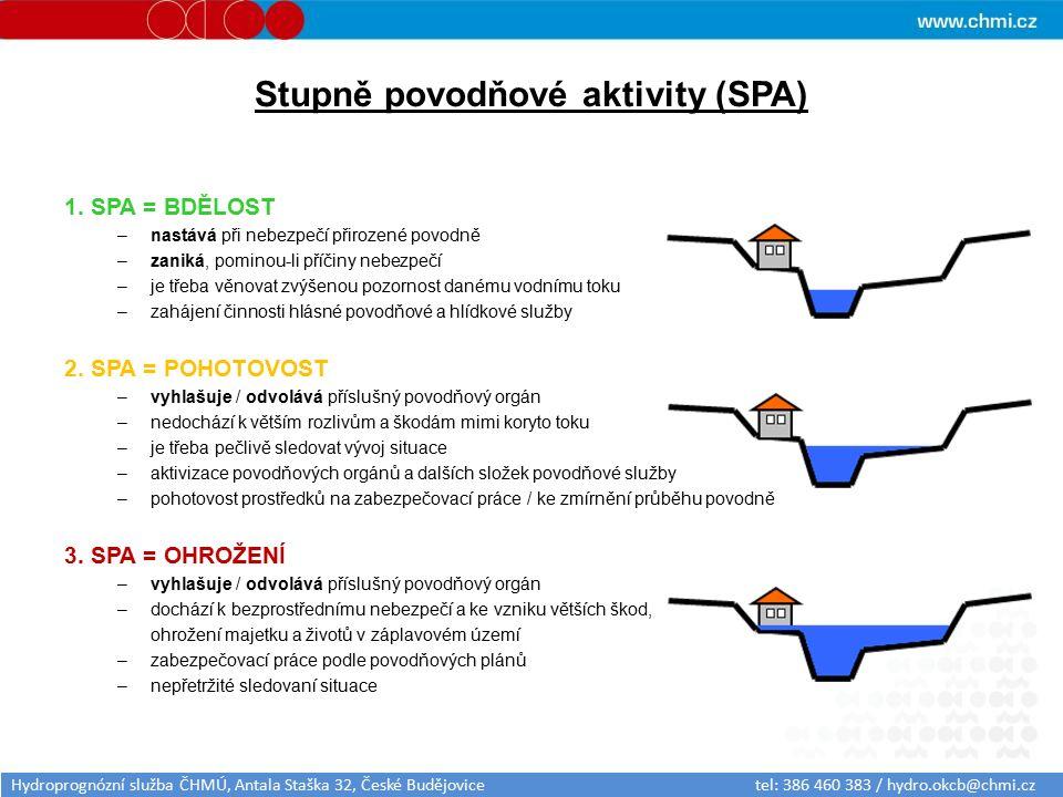 Stupně povodňové aktivity (SPA) 1.