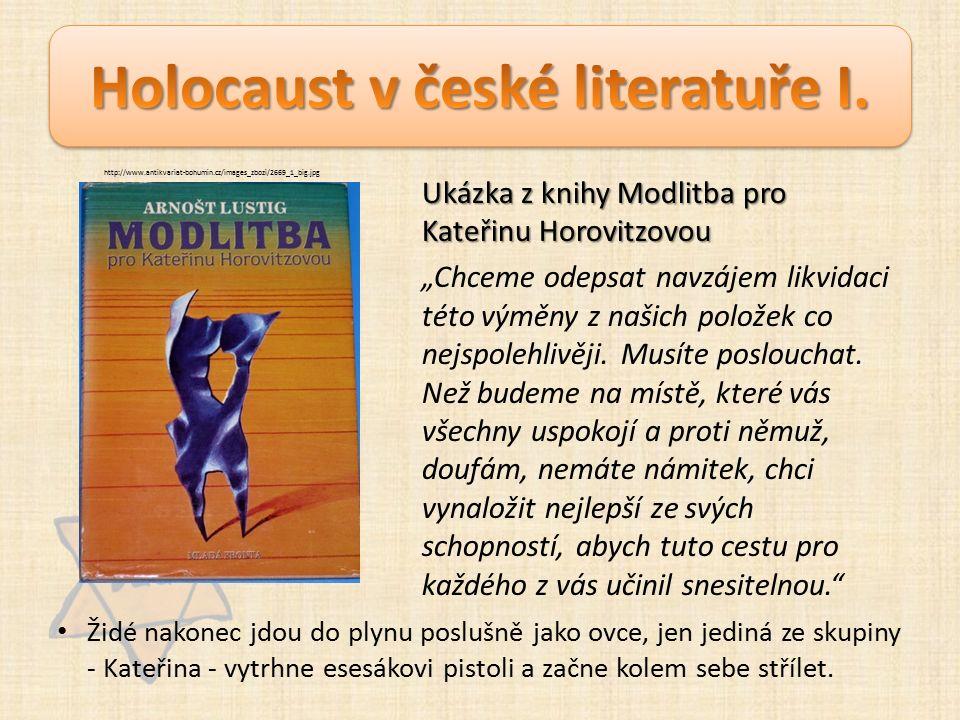 """Ukázka z knihy Modlitba pro Kateřinu Horovitzovou """"Chceme odepsat navzájem likvidaci této výměny z našich položek co nejspolehlivěji."""