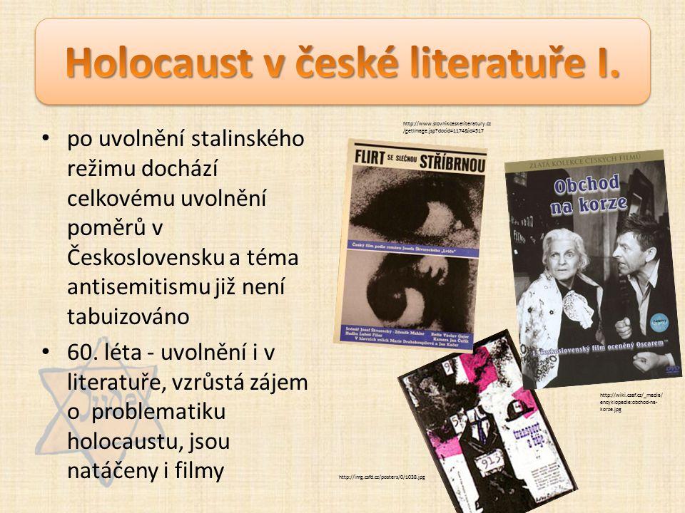 po uvolnění stalinského režimu dochází celkovému uvolnění poměrů v Československu a téma antisemitismu již není tabuizováno 60.