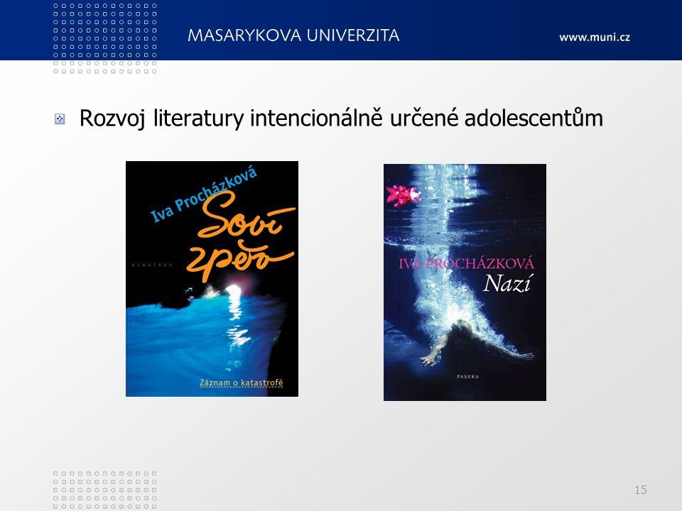 Rozvoj literatury intencionálně určené adolescentům 15