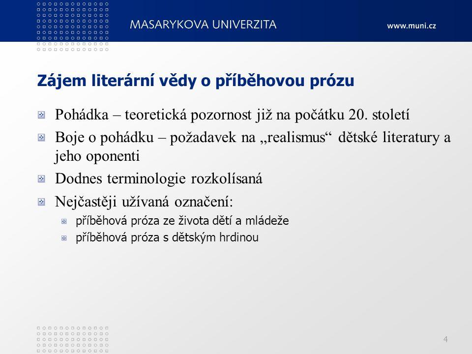 Charakteristika žánru TOMAN, Jaroslav.Vybrané kapitoly z teorie dětské literatury.