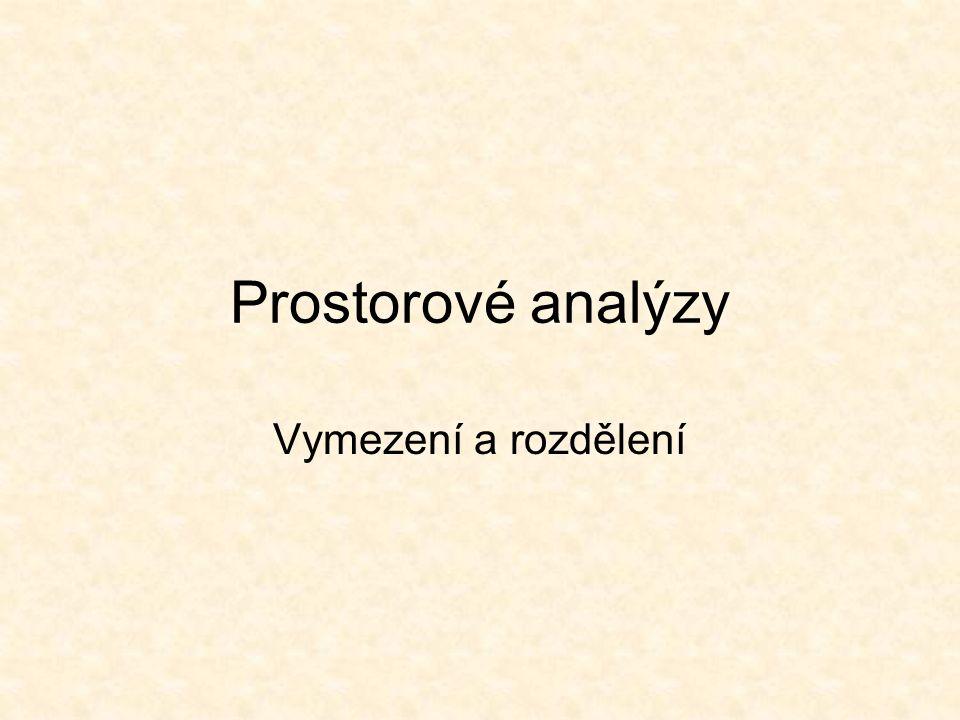Prostorové analýzy Vymezení a rozdělení