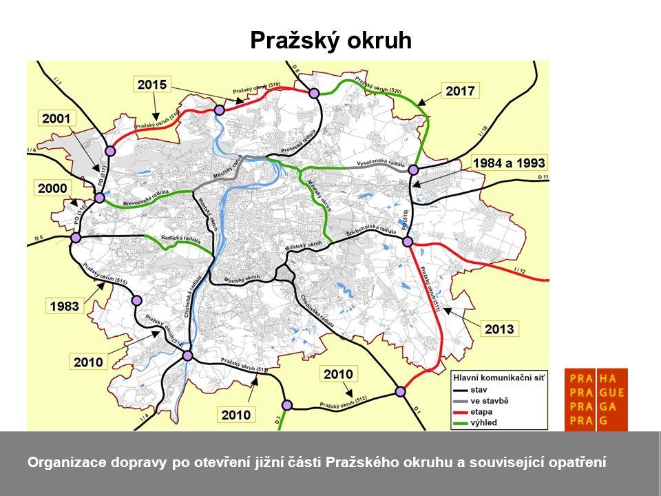 Pražský okruh Organizace dopravy po otevření jižní části Pražského okruhu a související opatření