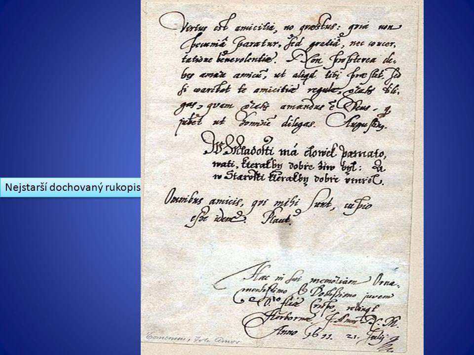 Nejstarší dochovaný rukopis