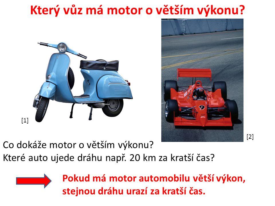 Který vůz má motor o větším výkonu. Co dokáže motor o větším výkonu.
