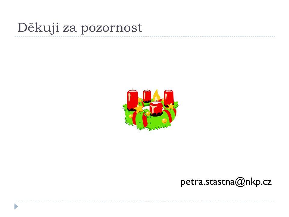Děkuji za pozornost petra.stastna@nkp.cz