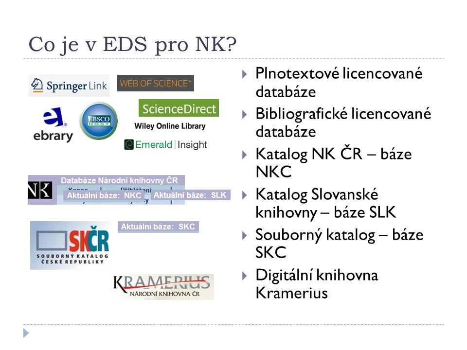 Co je v EDS pro NK.