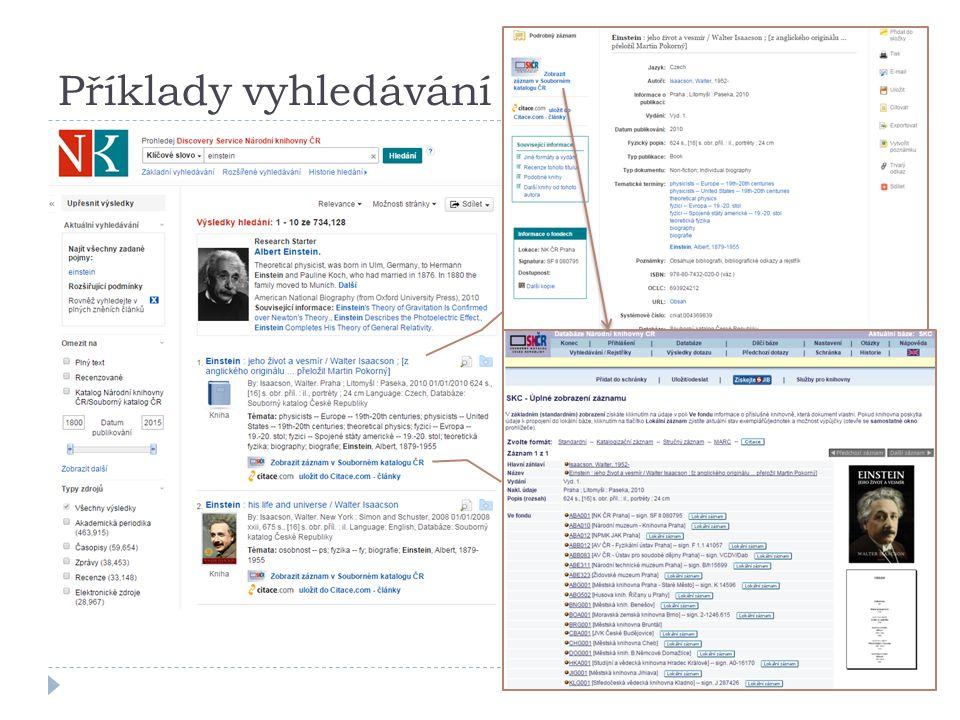 Příklady vyhledávání (3)