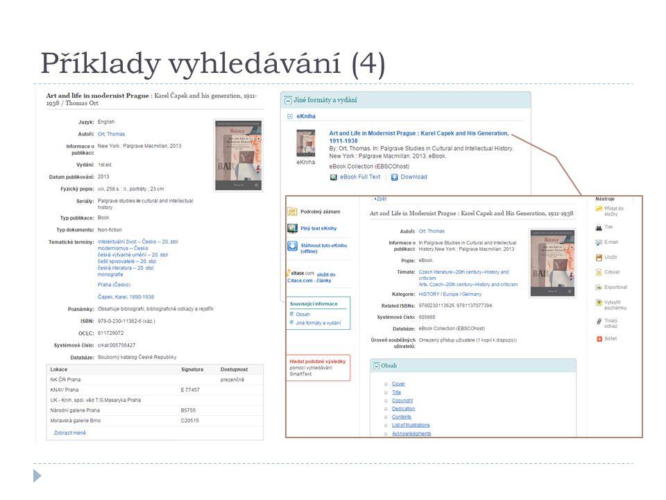 Příklady vyhledávání (4)