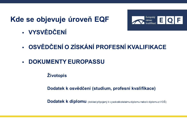  VYSVĚDČENÍ  OSVĚDČENÍ O ZÍSKÁNÍ PROFESNÍ KVALIFIKACE  DOKUMENTY EUROPASSU Životopis Dodatek k osvědčení (studium, profesní kvalifikace) Dodatek k