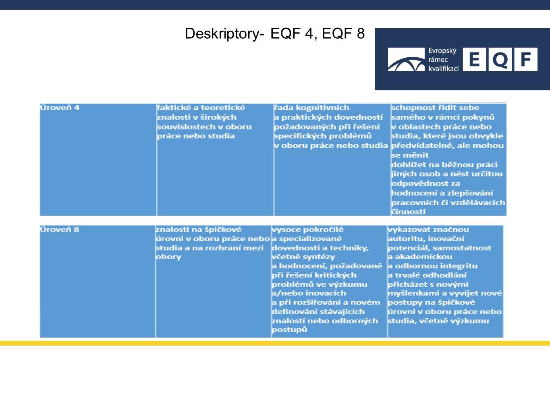 EQF funguje jako společný překladač mezi úrovněmi kvalifikací evropských států.