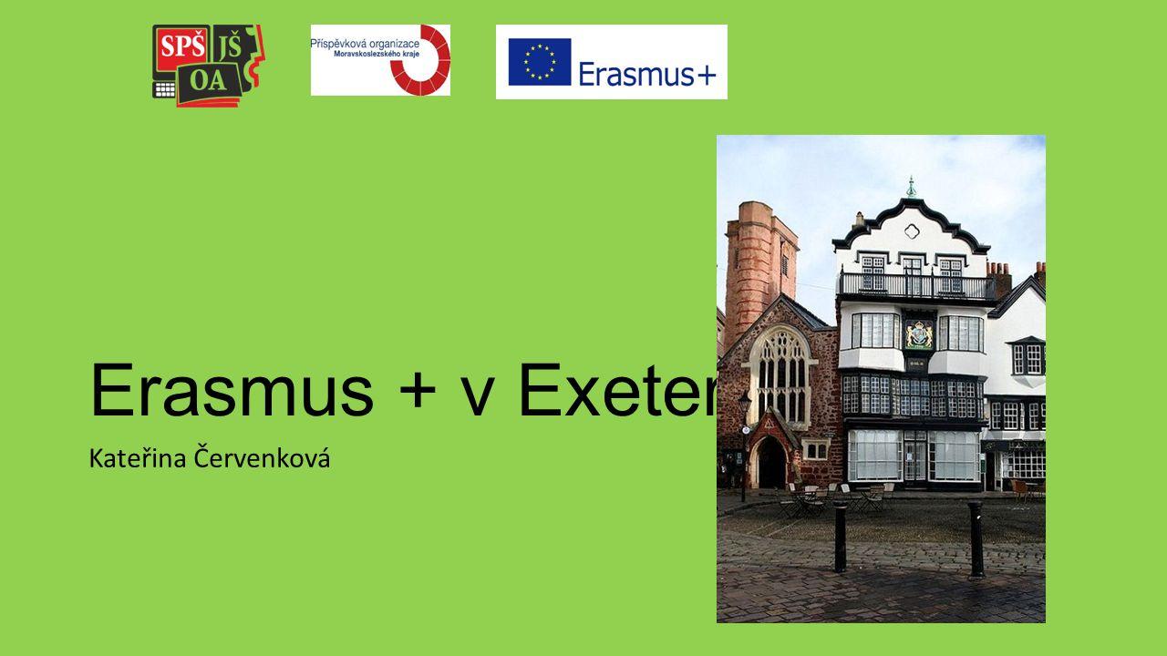 Erasmus + v Exeteru Kateřina Červenková