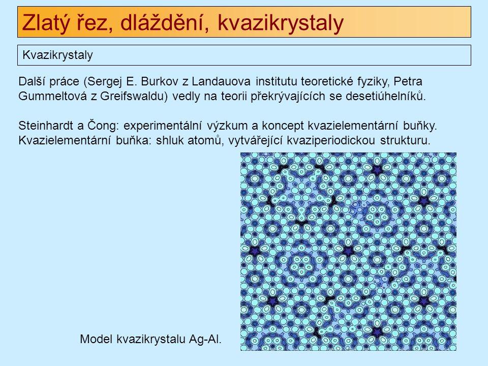 Zlatý řez, dláždění, kvazikrystaly Kvazikrystaly Další práce (Sergej E.