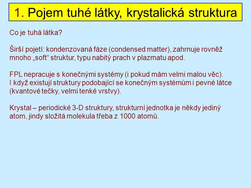1. Pojem tuhé látky, krystalická struktura Co je tuhá látka.