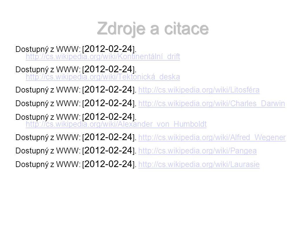Zdroje a citace Dostupný z WWW: [ 2012-02-24 ].
