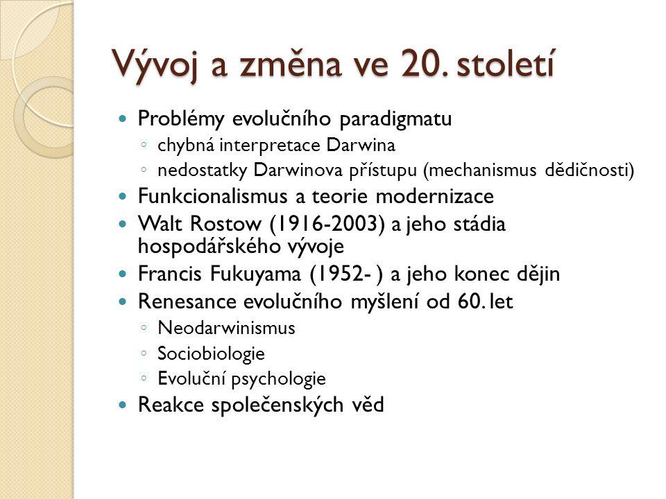 Vývoj a změna ve 20.
