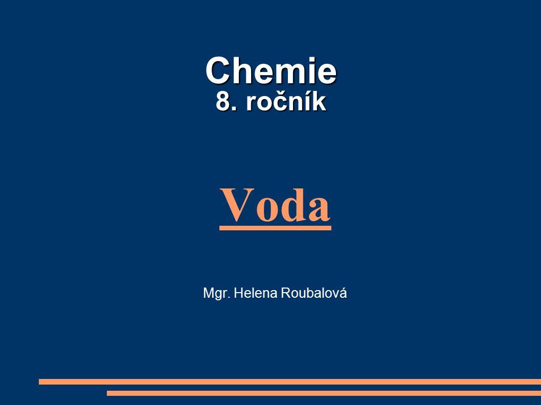 Chemie 8. ročník Voda Mgr. Helena Roubalová