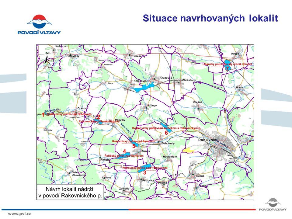 8/9/12 Základní parametry posuzovaných lokalit LokalitaVodní tokProfil Plocha povodí [km 2 ] Objem max.