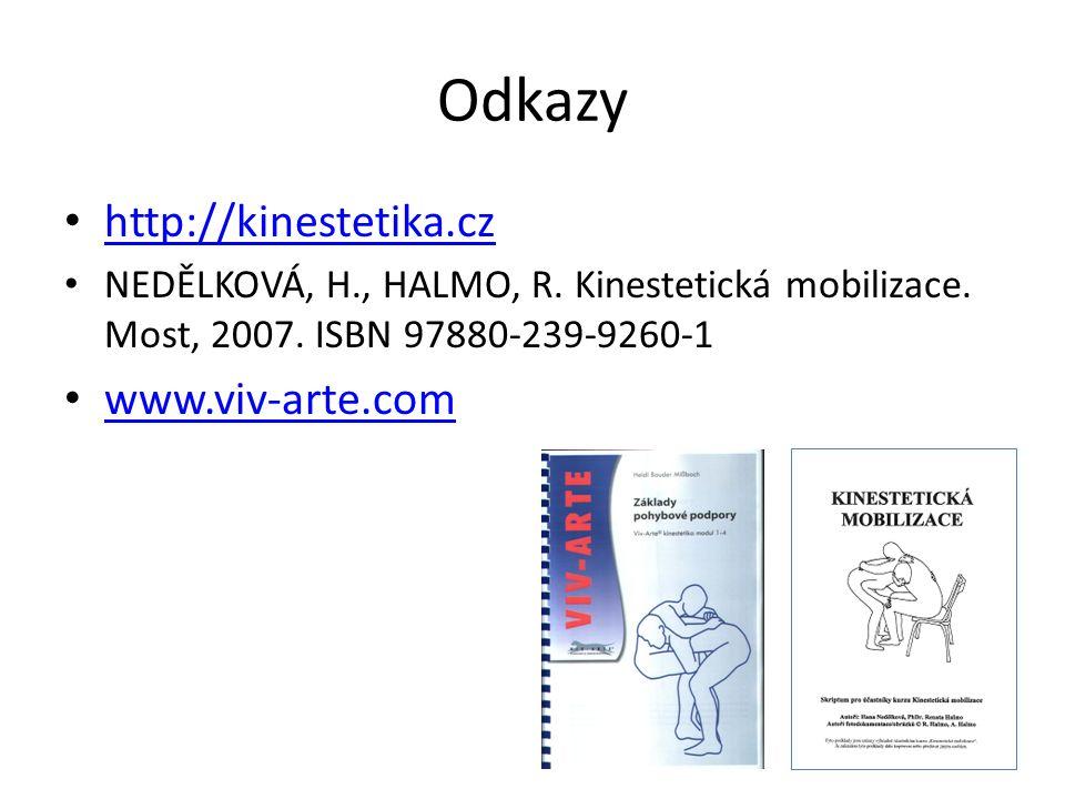 Odkazy http://kinestetika.cz NEDĚLKOVÁ, H., HALMO, R.