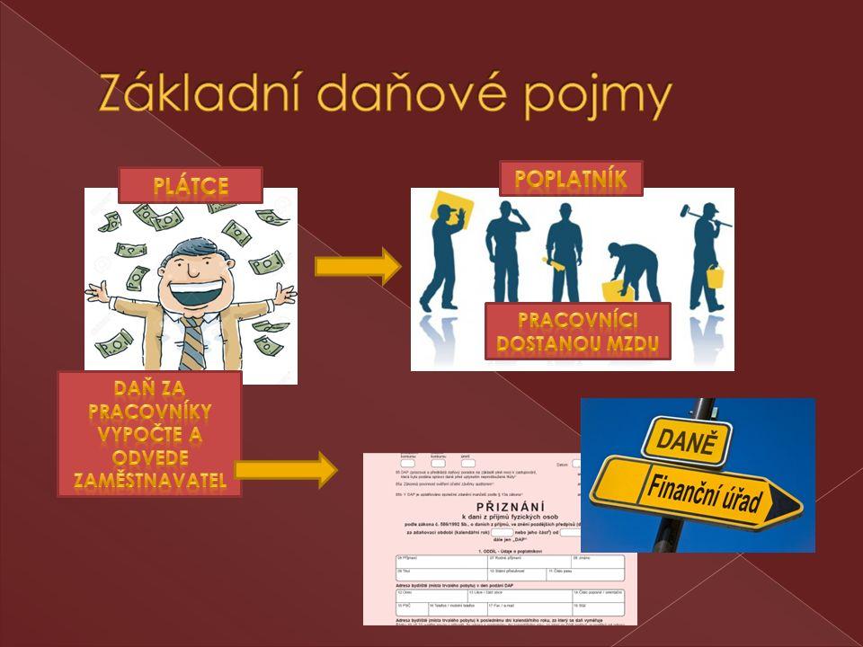  Správce daně – je zpravidla příslušný finanční úřad  Subjekt daně – je osoba, které se daň týká, tzn.