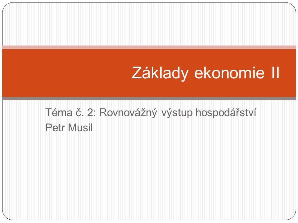 Téma č. 2: Rovnovážný výstup hospodářství Petr Musil Základy ekonomie II