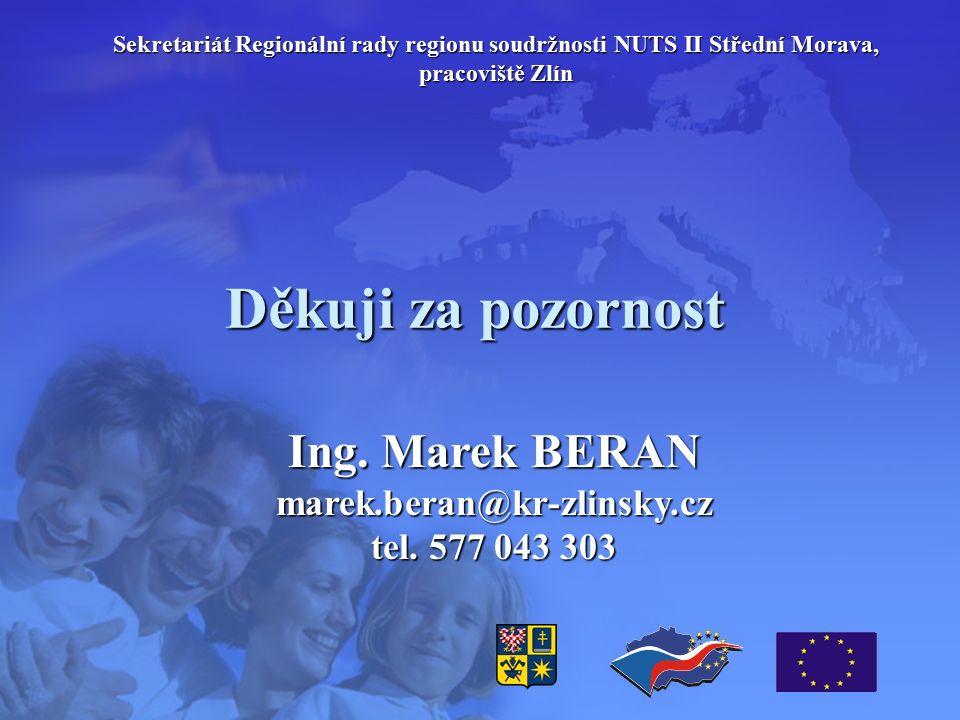 Děkuji za pozornost Ing. Marek BERAN marek.beran@kr-zlinsky.cz tel.