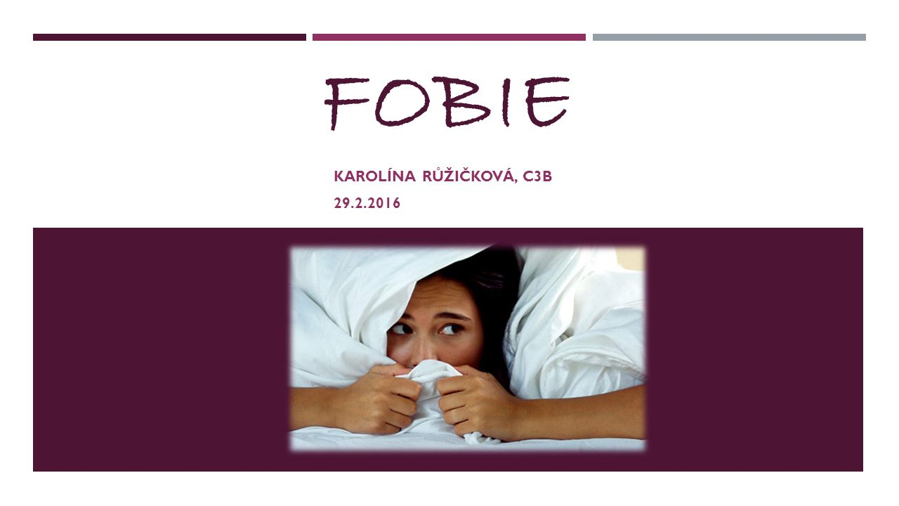 FOBIE KAROLÍNA RŮŽIČKOVÁ, C3B 29.2.2016