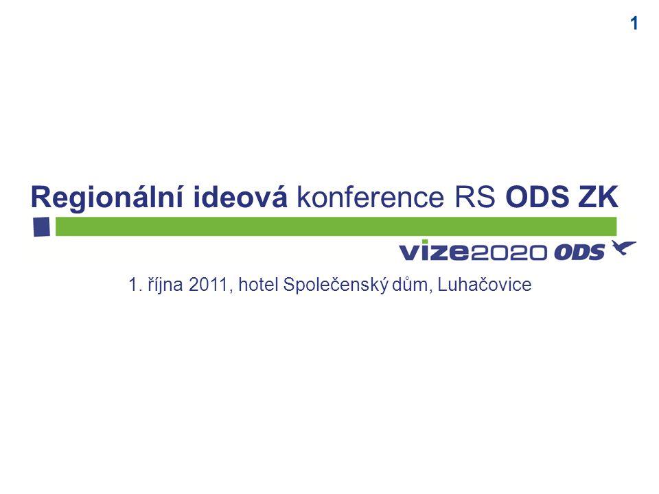 1 1. října 2011, hotel Společenský dům, Luhačovice Regionální ideová konference RS ODS ZK