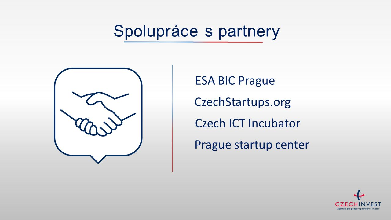 Spolupráce s partnery CzechStartups.org ESA BIC Prague Czech ICT Incubator Prague startup center