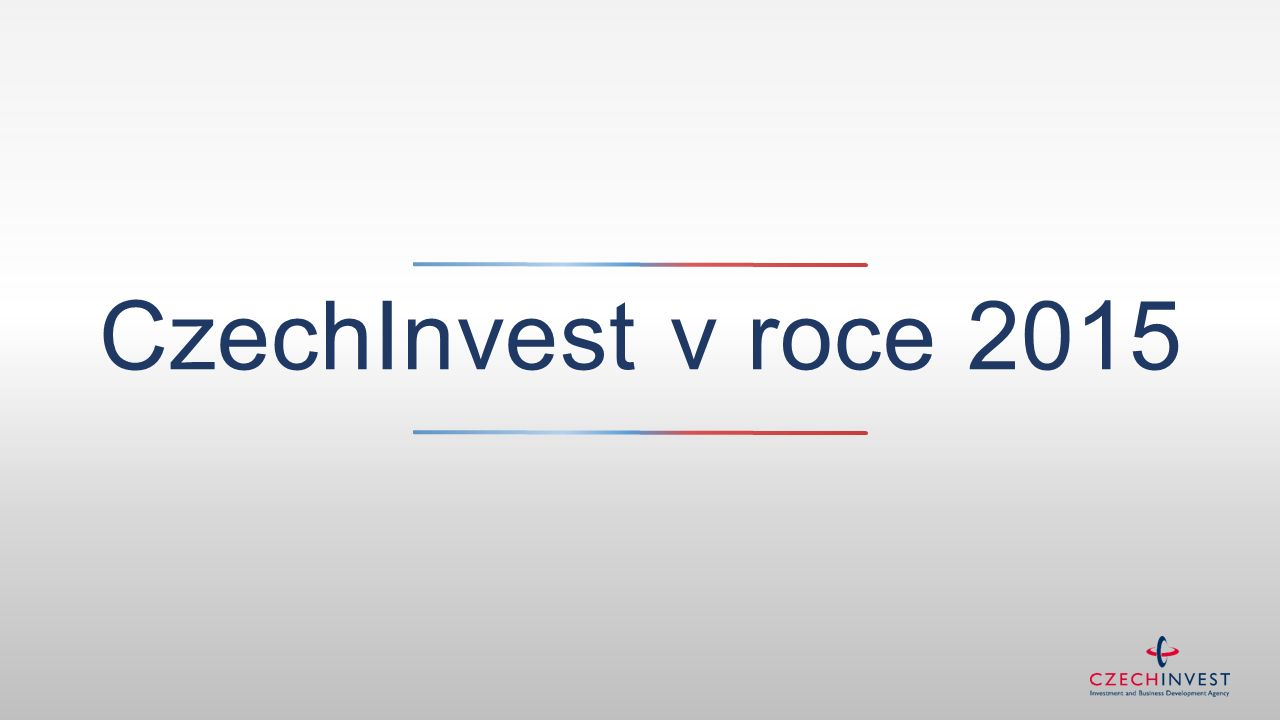 CzechInvest v roce 2015