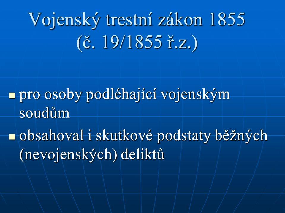 Vojenský trestní zákon 1855 (č.