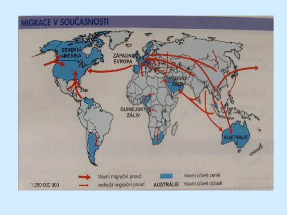 Historické migrace Stěhování národů (4.- 7.století) Vysídlení němců z východní Evropy po 2.