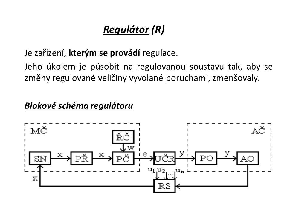 Je zařízení, kterým se provádí regulace.