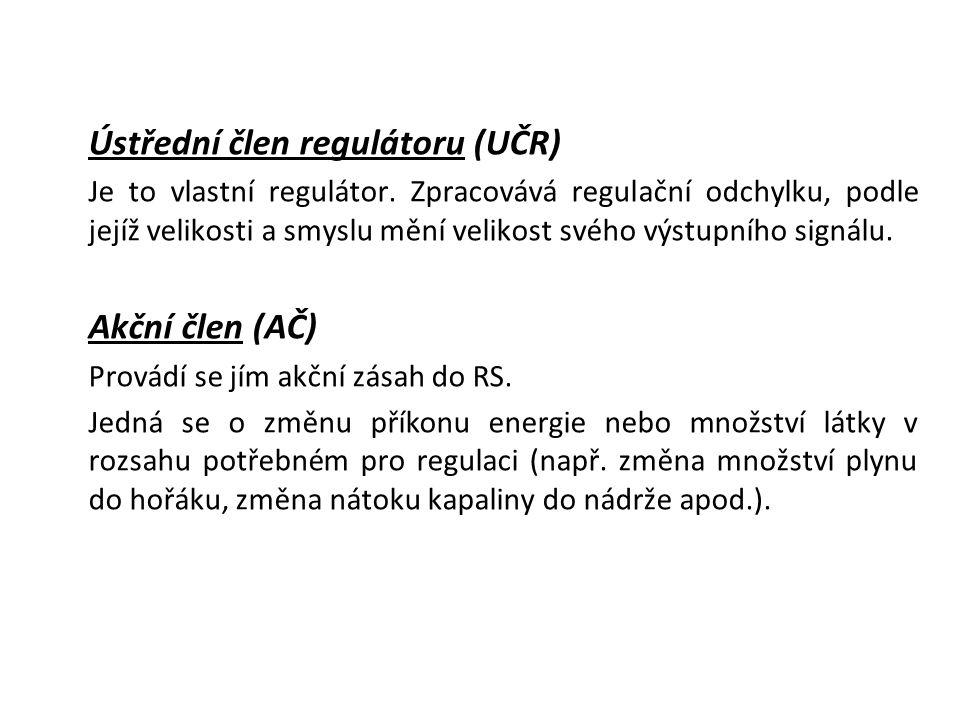 Ústřední člen regulátoru (UČR) Je to vlastní regulátor.