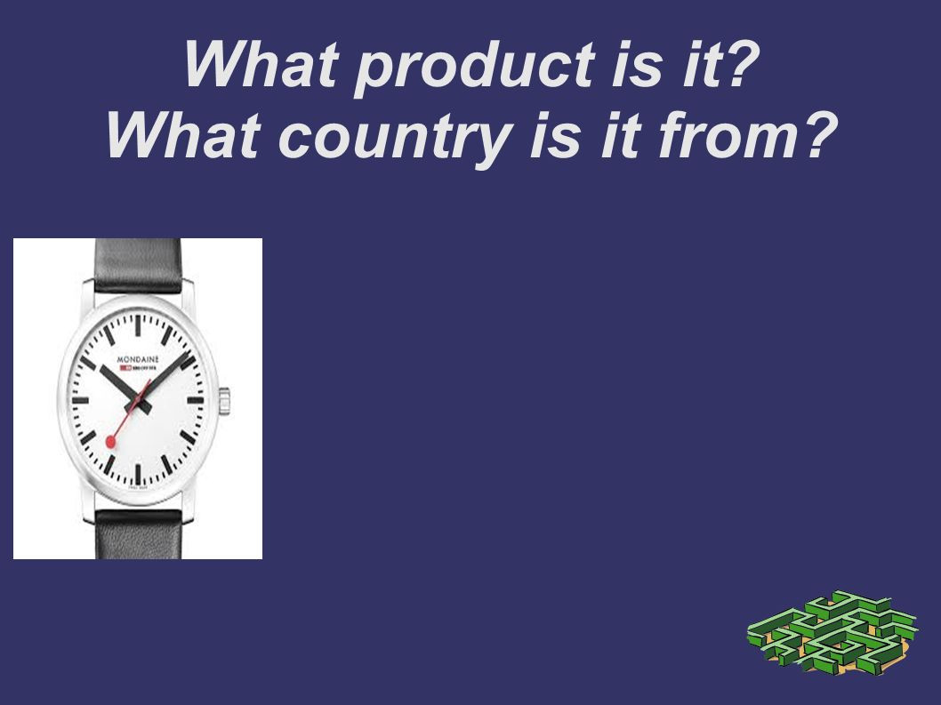 What product is it What country is it from