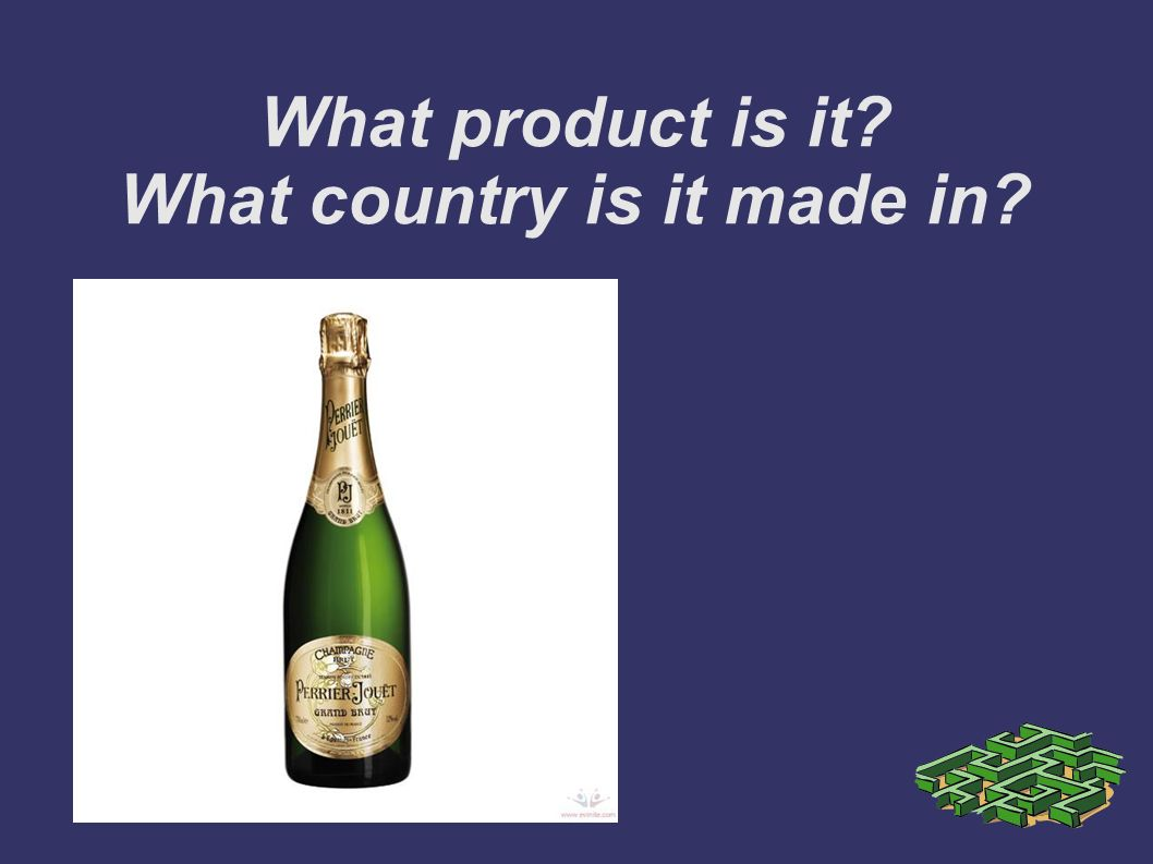 What product is it? What country is it made in?