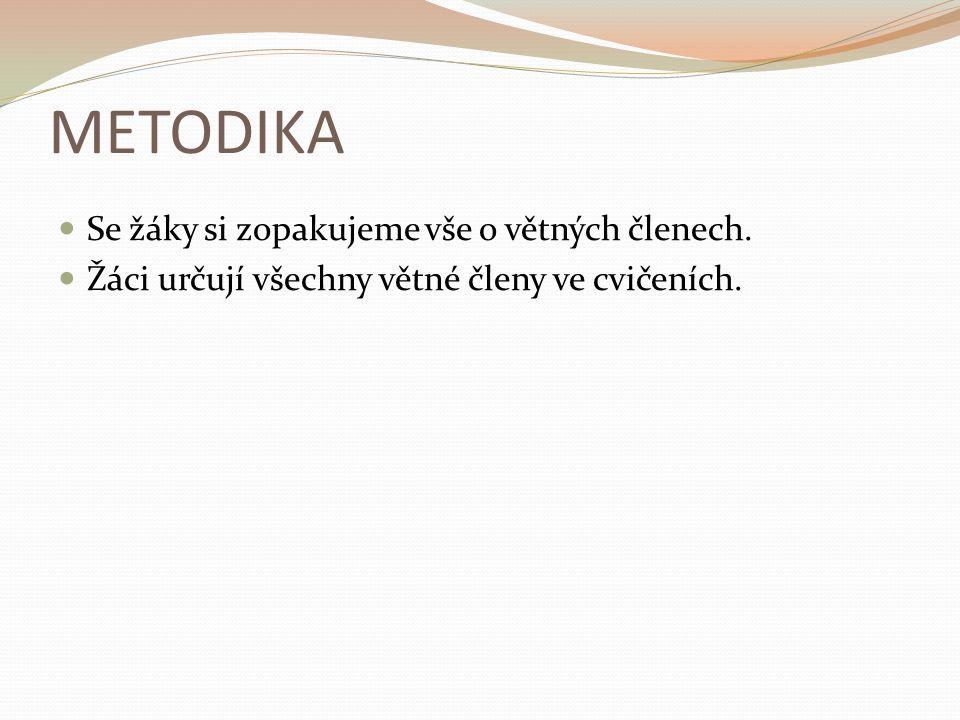 POUŽITÉ ZDROJE Hošnová, E. a kol. Český jazyk pro ZŠ 6 – Pracovní sešit.