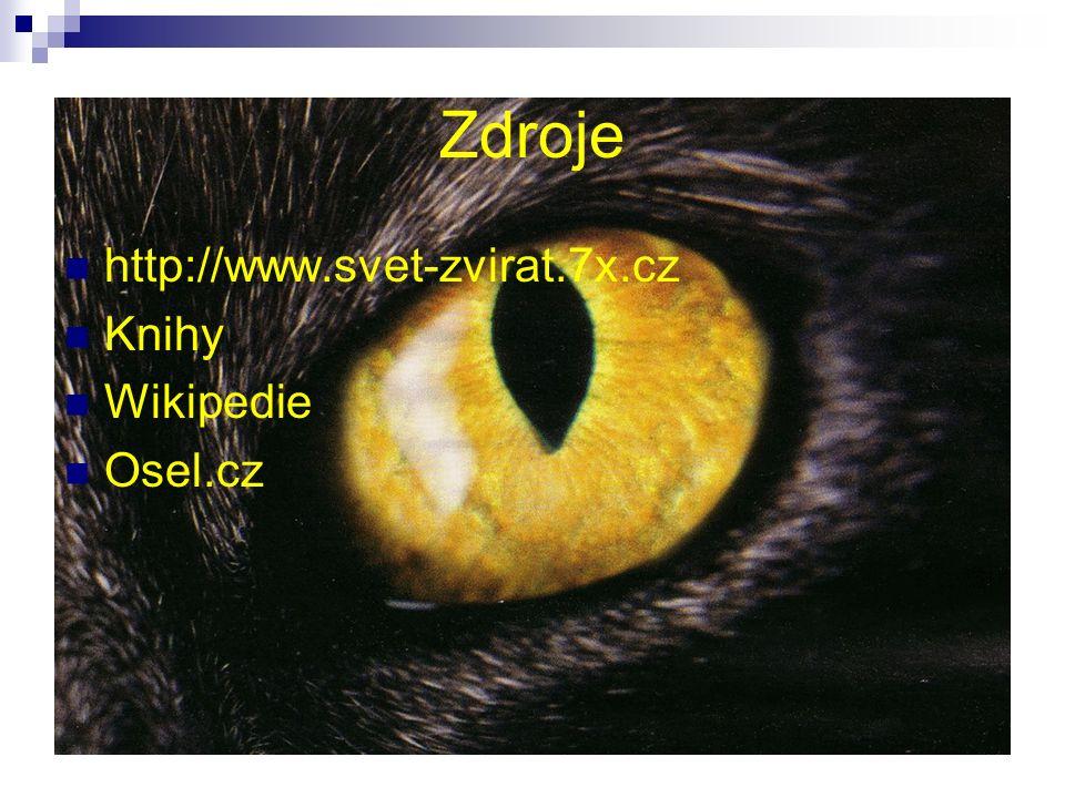 Zdroje http://www.svet-zvirat.7x.cz Knihy Wikipedie Osel.cz