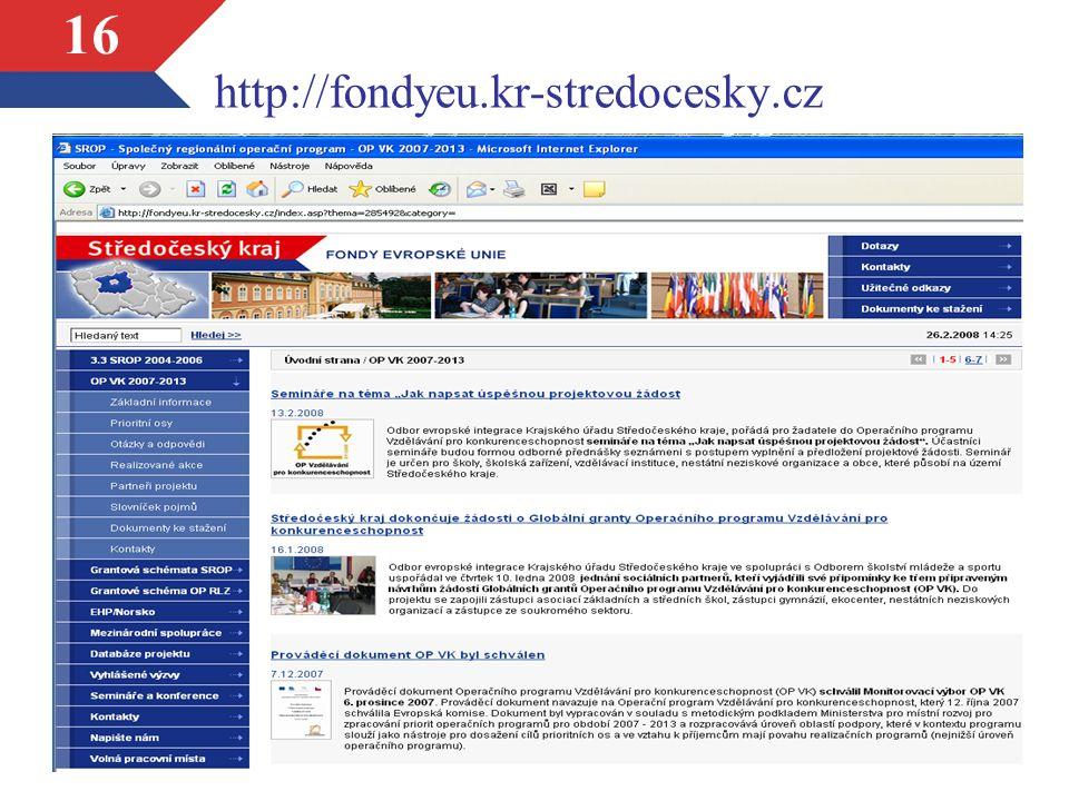 16 http://fondyeu.kr-stredocesky.cz