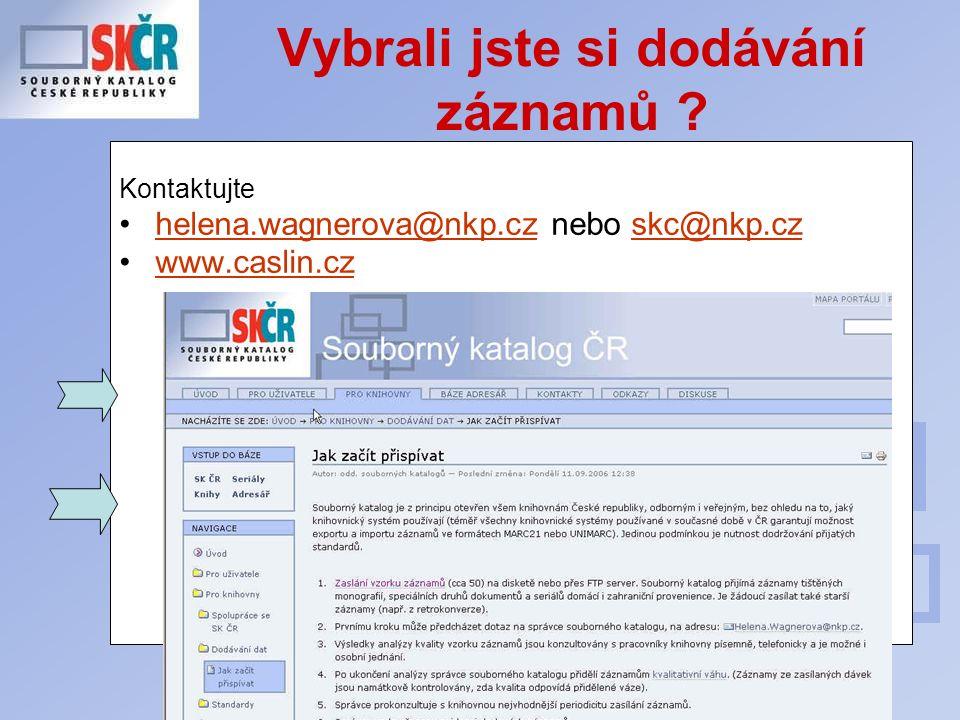Porada profesionálních knihoven Středočeského kraje Vybrali jste si dodávání záznamů .
