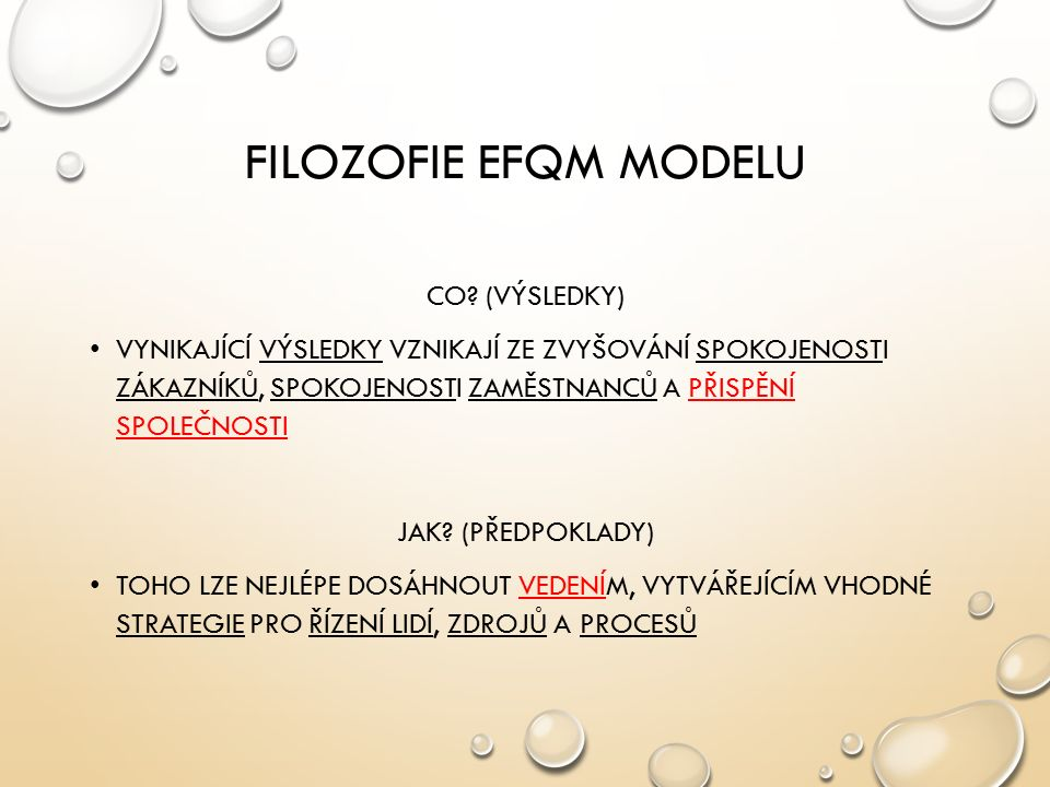 FILOZOFIE EFQM MODELU CO.
