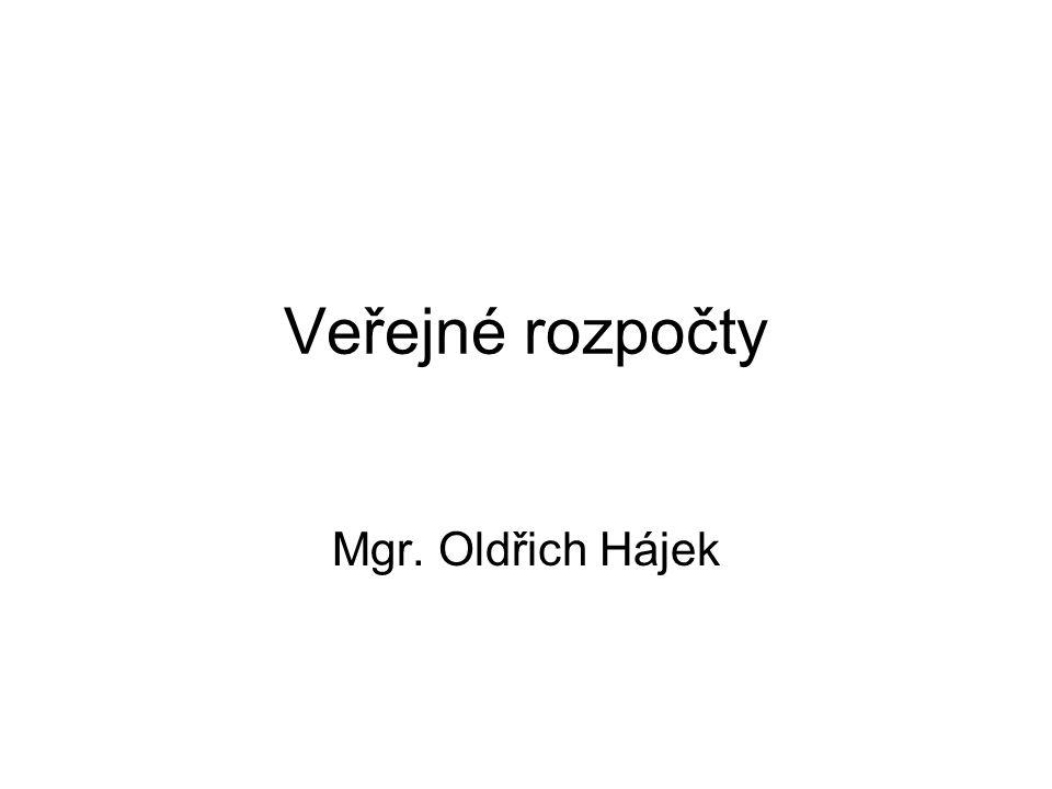 Veřejné rozpočty Mgr. Oldřich Hájek