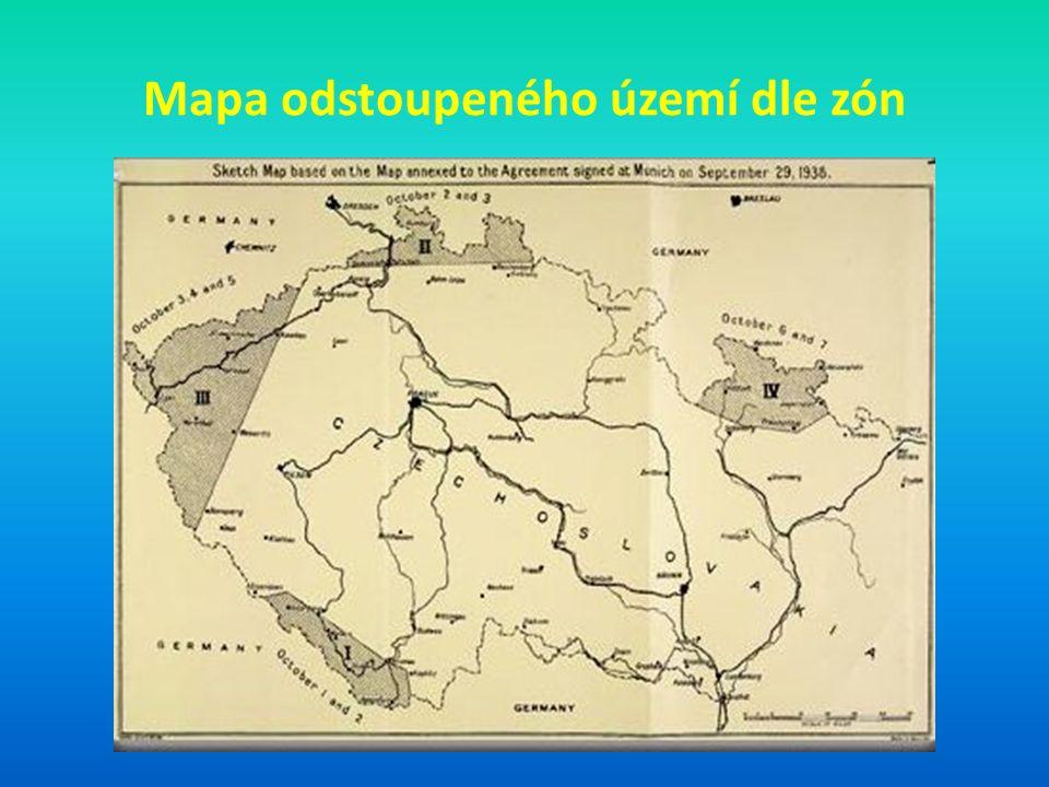 Mapa odstoupeného území dle zón