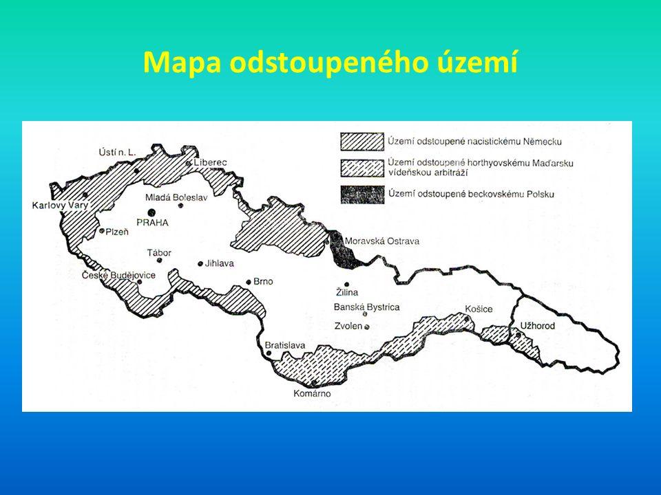 Mapa odstoupeného území